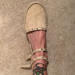 NWOT Strappy espadrille sandals - WIDE WIDTH